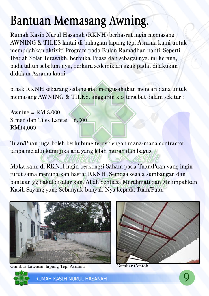 9 Profile RKNH Awning